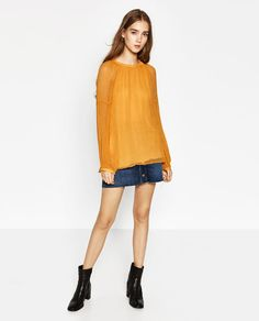 Image 1 of FLOUNCE TOP from Zara