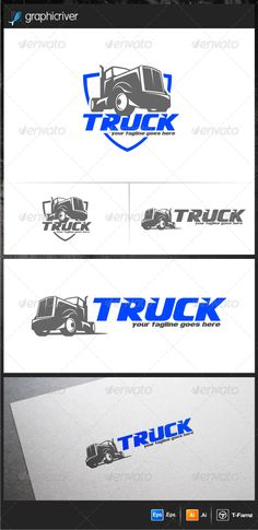 Truck Logo Templates  #GraphicRiver