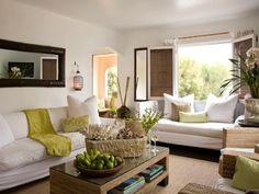 Ideas: dark & light contrast Coastal Living Room Ideas | Living Room and Dining Room Decorating Ideas and Design | HGTV