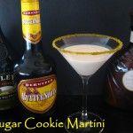 Sugar Cookie Martini  2 oz. Godiva White Chocolate Liqueur  2 oz. Bailey's Irish Cream  2 oz. Butterscotch Schnapps  2 oz. whipping cream  2 oz. milk  Combine ingredients in a martini shaker with ice. Shake and pour.