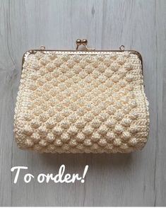 Evening clutches wedding clutches girl handbag elegant Muster Kupplungen Your place to buy and sell all things handmade Crochet Wallet, Crochet Coin Purse, Crochet Purses, Pink Handbags, Crochet Handbags, Frame Purse, Wedding Clutch, Vintage Stil, Simple Bags