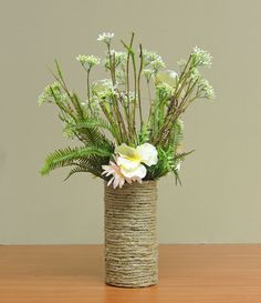 D.I.Y. Jute Wrapped Vase #Wedding #Rustic