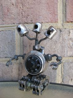 Medusa The LockBot Recycled Metal Sculpture by GeargoyleMetalArt, $45.00