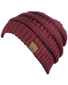 C Trendy Warm Chunky Soft Stretch Cable Knit Beanie Skully Ponytail Beanie, Cc Beanie, Knit Beanie, Beanie Hats, Fall Hats For Women, Cool Beanies, Off Shoulder Sweater, Mermaid Evening Dresses, Lace Mermaid