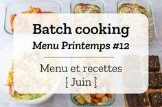 Batch cooking Printemps – Mois de Juin – Semaine 24 - Expolore the best and the special ideas about Budget cooking Batch Cooking, Cooking Recipes, Small Kitchen Organization, Cooking On A Budget, 20 Min, Cooking Light, Meal Prep, Lunch Box, Food And Drink
