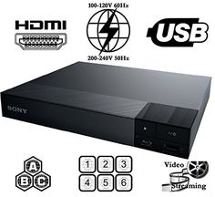 SONY BDP-S1500 Reproductor de Blu-ray Disc Multi System Region Code Free Blu Ray Disc DVD Player - PAL/NTSC - USB - 100-240V 50/60Hz for World-Wide Use & 6 Feet HDMI Cable: Amazon.com.mx: Electrónicos