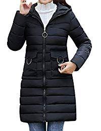 2cc7cbde8ed5 Clearance Women Coats Jackets LuluZanm Hooded Thick Warm Slim Jacket Long  Overcoat Women Winter Warm Coat Best Winter Coats for Women USA