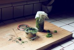 Spruce Tip Vinegar: fill jar w/ spruce tips & apple cider vinegar, cover the tips completely. Wrap wax paper over jar & place in cool dark place. Leave for 2-4wks. Try over salads.  Conifer Sugar: combine equal parts conifer needles w/ equal parts sugar. Chop in food processor. Sprinkle on buttered toast or use in shortbread or cookies.  Pine Needle Tea: pour hot water over needles & steep until your desired brew strength is reached. Chop needles in half to release oils for a stronger…