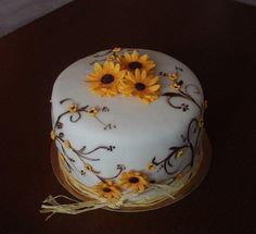Other cake with sunflowers