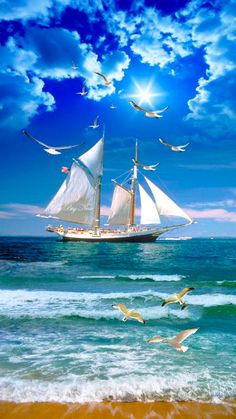 Cruise Ship Gambling: Everything You Need and Want to Know Beautiful Nature Wallpaper, Beautiful Landscapes, Cruise Italy, Old Sailing Ships, Sailing Cruises, Ship Paintings, Boat Art, Boat Painting, Artist Painting