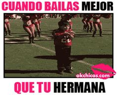 Sorry for spanish it says when you dance better than your sister Memes Lindos, Kids Corner, Bad Boys, Make Me Smile, Videos, Haha, Spanish, Motivational Quotes, Funny Pictures