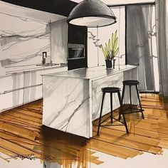 Rate this design from . Rate this design from . Interior Architecture Drawing, Interior Design Renderings, Drawing Interior, Interior Rendering, Interior Sketch, Architecture Design, Spa Interior, Office Interior Design, Home Design Plans
