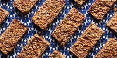 25 Fortifying Breakfast Bars And Energy Bites - Granola Bars with Dried Fruit and Seeds RECIPE / Photo by Chelsea Kyle, Prop Styling by Beatrice Chastka, Food Styling by Kate Schmidt Breakfast Granola Bar Recipe, Breakfast Bars, Breakfast Recipes, Breakfast Ideas, Breakfast Energy, Brunch Recipes, Keto Recipes, Snack Recipes, Healthy Recipes