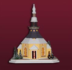 Seiffener Kirche mit Kurrende, mittelgross - http://www.erzgebirgsstuebchen.de