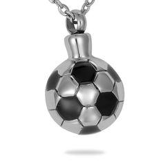 Steel Soccer Ball Cremation Jewelry – valyriajewelry.com