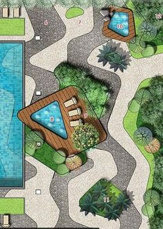 New Ideas For Garden Drawing Architecture Plan - Garden Drawing Plans Architecture, Landscape Architecture Drawing, Landscape Sketch, Landscape Design Plans, Landscape Drawings, Urban Landscape, Architecture Diagrams, Architecture Portfolio, Landscape Bricks