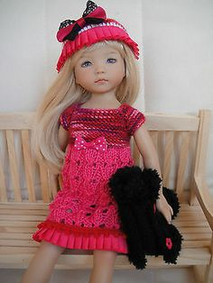 Handknitted Outfit for Little Darling Doll 13 inches Dianna Effner New   eBay