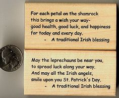 beats the heck out of the same old rendition of either an Irishman is never drunk,,, or... may the road rise to meet you!