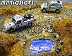 Slot car, Scenery, Ninco, RAID rally, How-to