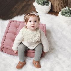 The cutest toddler girl outfits! Lace drool Bib from Billy Bibs