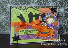 Card #1 from my 2012 Halloween Card Series by AmyR of Prairie Paper & Ink