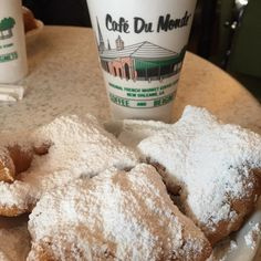 #flashbackfriday #NewOrleans | beignets and a very hot cafe au lait