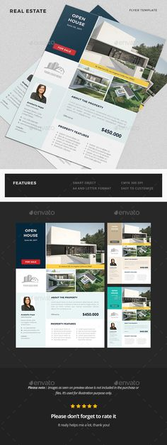 Real Estate Advertising Flyer Template Advertising By Koreev