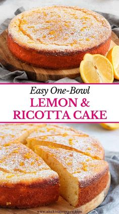 Lemon Dessert Recipes, Homemade Cake Recipes, Sweet Recipes, Baking Recipes, Healthy Lemon Desserts, Light Desserts, Easy Desserts, Delicious Desserts, Easy Italian Desserts