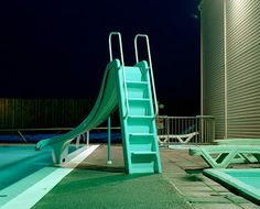 Astrid Kruse Jensen / From the series Hypernatural /   Pictures of swimmingpools in Iceland