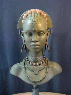 statue picture for large desktop - statue category African Sculptures, Sculptures Céramiques, Art Sculpture, Ceramic Sculptures, Modern Sculpture, Abstract Sculpture, Bronze Sculpture, African American Art, African Art