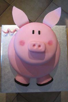Un petit cochon pour une petite fille Sugar Art, Piggy Bank, Motto, Fondant, Icing, Cake Decorating, Food And Drink, Lily, Dessert