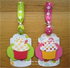 Birthday cupcake tags by ladyb1974 - Cards and Paper Crafts at Splitcoaststampers