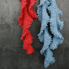 These look familiar...  Sea Lettuce Scarves   http://lucyneatby.com/index.php?specific=1000200