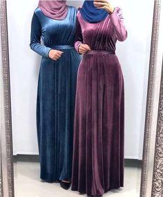 30 Casual Winter Hijabi Outfits To Fall In Love With - Zahrah Rose Abaya Fashion, Muslim Fashion, Fashion Dresses, Modest Fashion, Korean Fashion, Hijab Evening Dress, Hijab Dress Party, Abaya Mode, Mode Hijab