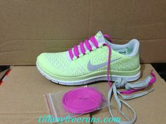Womens Nike Free 3.0 V4 Liquid Lime Reflective Silver White Rose Lace New Nike Frees 2013 Shoes