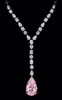 Pink diamond necklace, Graff •?((¯°·._.• ცʝ •._.·°¯))؟•(•ิ‿•ิ)
