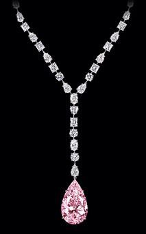 Pink diamond necklace, Graff •?((¯°·._.• ცʝ •._.·°¯))؟•(•ิ‿•ิ)