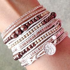 """""""Rose Queen"""" bracelet stack from ChiChiMe.com"""