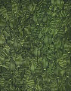 thunderstruck9:  Anton van Dalen (Dutch, b. 1938), Leaves - Arrow Weed, 1968. Oil on canvas, 227.3 x 177.2 cm.