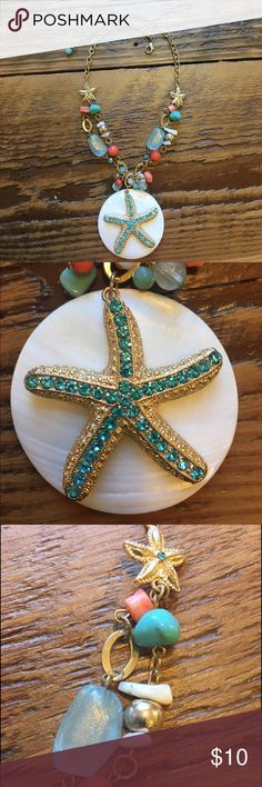 Sea Star Necklace Ocean inspired necklace perfect for summer! Charming Charlie Jewelry Necklaces
