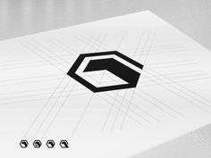 One Pixel - Brand Mark 3D Cube Logo Construction
