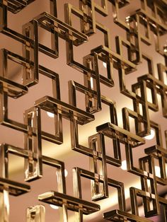 Elegant metal screen.