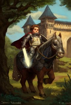 m Halfling Paladin Plate Armor Shield Magic Sword Cloak Pony Barding Castle Farmland deciduous forest Road male lg 3d Fantasy, Fantasy Races, Fantasy Warrior, Medieval Fantasy, Fantasy World, Dungeons And Dragons Characters, Dnd Characters, Fantasy Characters, Character Concept