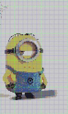 Perler Bead Minion Pattern by Fallenherosrevive on DeviantArt