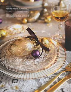great festive table setting