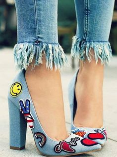 *No to the shoes, maybe to that jean fringe