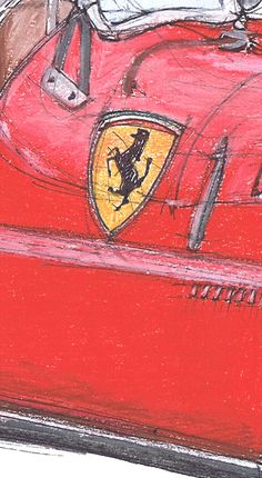 Ferrari 166S 1948 Cars portraits on request by drawspots on Etsy, $38.00