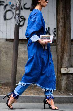 #denim The Fashion Magpie // Frayed denim trend.