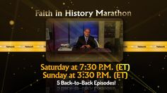 Faith in History Marathon | August 8th & 9th, 2015 | www.TCT.tv