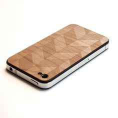 Lazerwood: iPhone Chevron Wood Cover Chevron